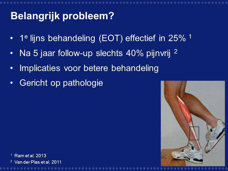 Belangrijk probleem 1e lijns behandeling (EOT) effectief in 25% 1