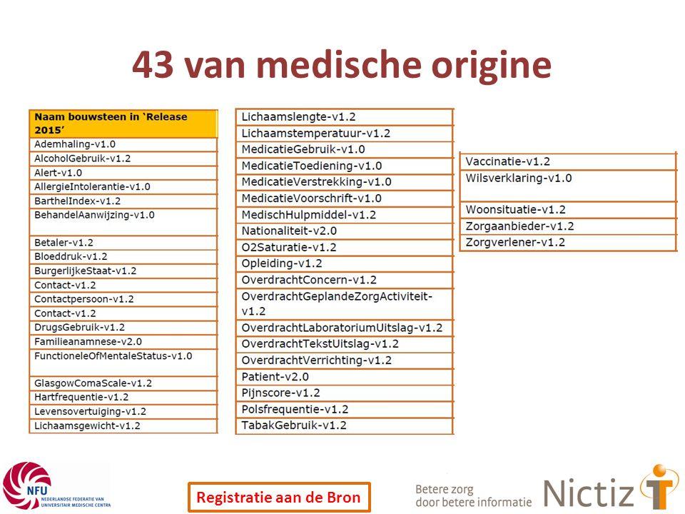 43 van medische origine