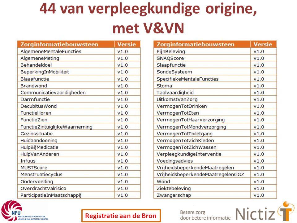 44 van verpleegkundige origine, met V&VN