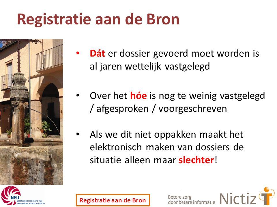 Registratie aan de Bron
