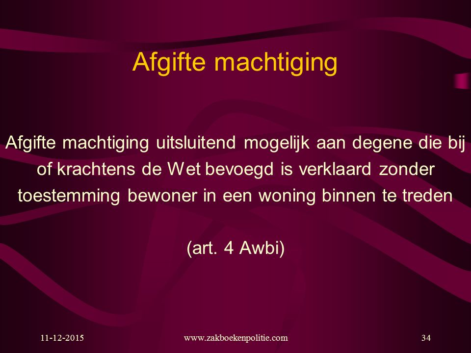 Afgifte machtiging