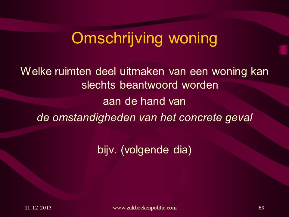 Omschrijving woning