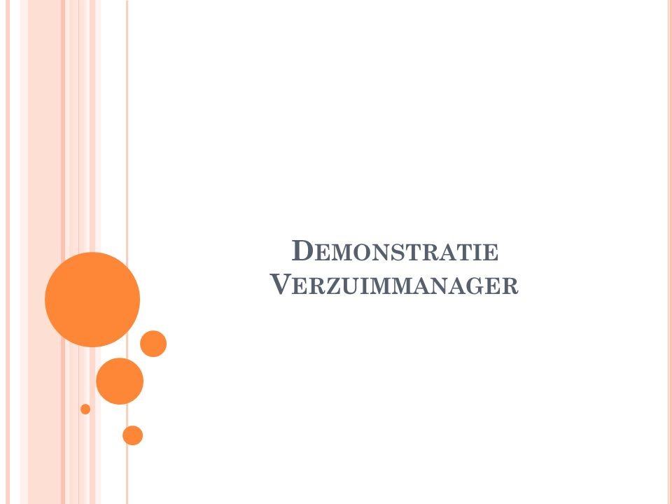 Demonstratie Verzuimmanager