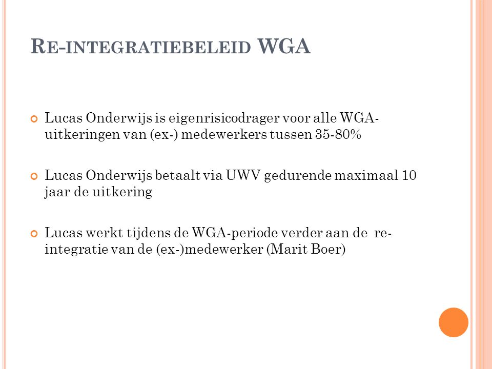 Re-integratiebeleid WGA