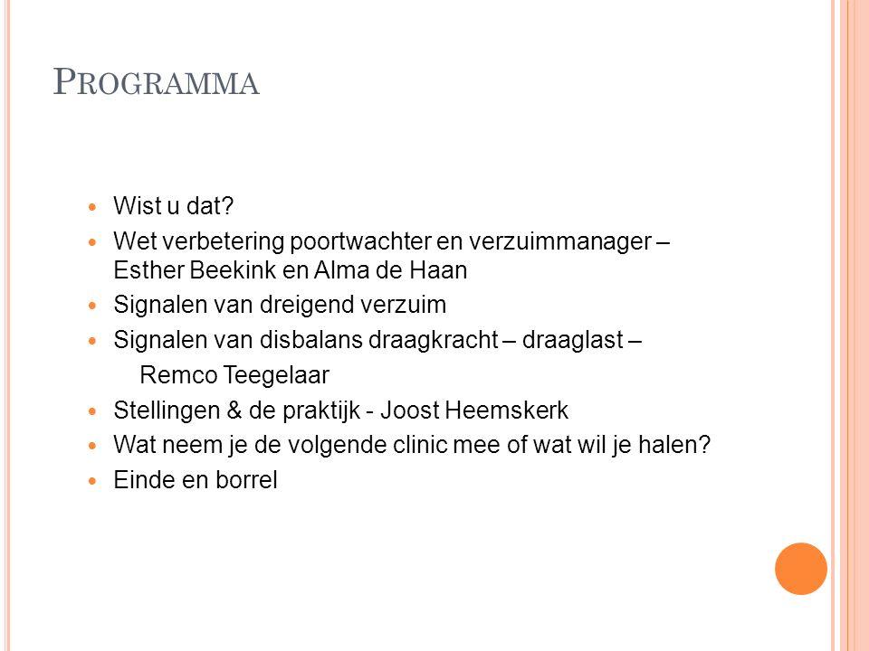 Programma Wist u dat Wet verbetering poortwachter en verzuimmanager – Esther Beekink en Alma de Haan.