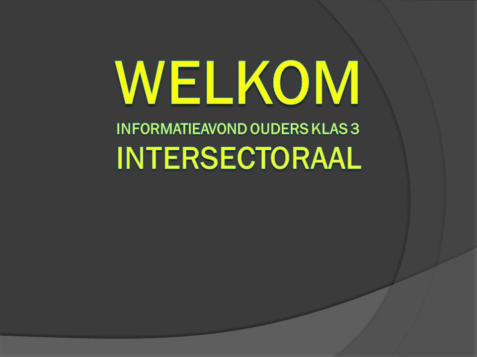 Welkom informatieavond ouders klas 3 Intersectoraal
