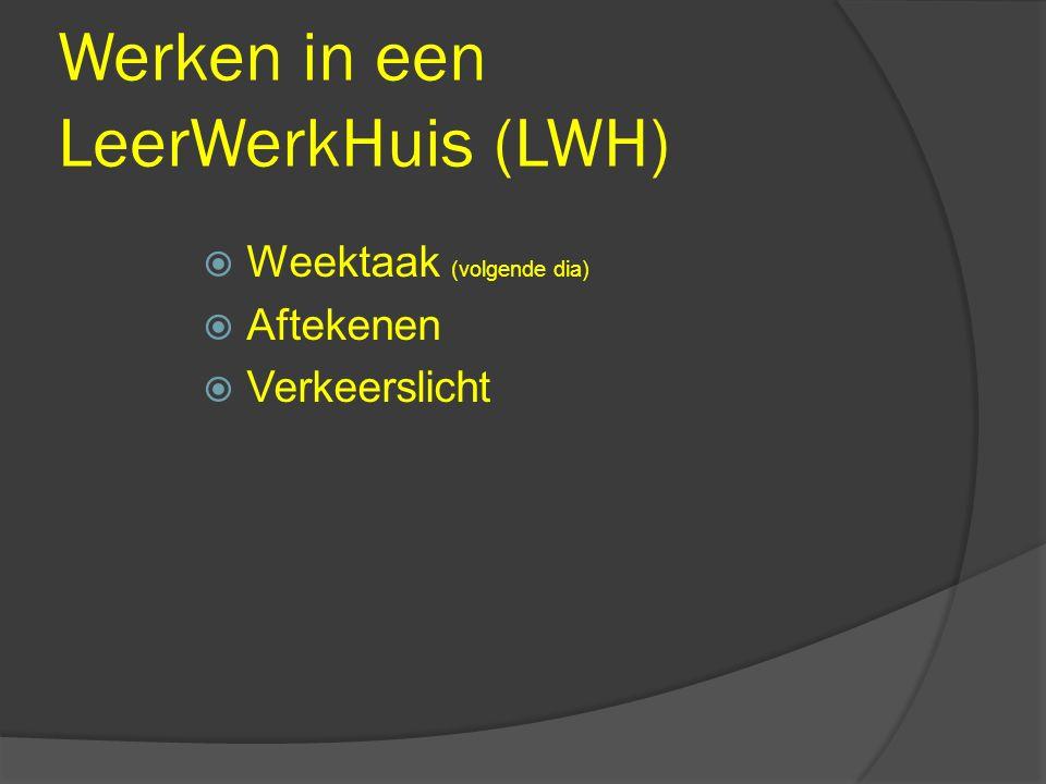 Werken in een LeerWerkHuis (LWH)