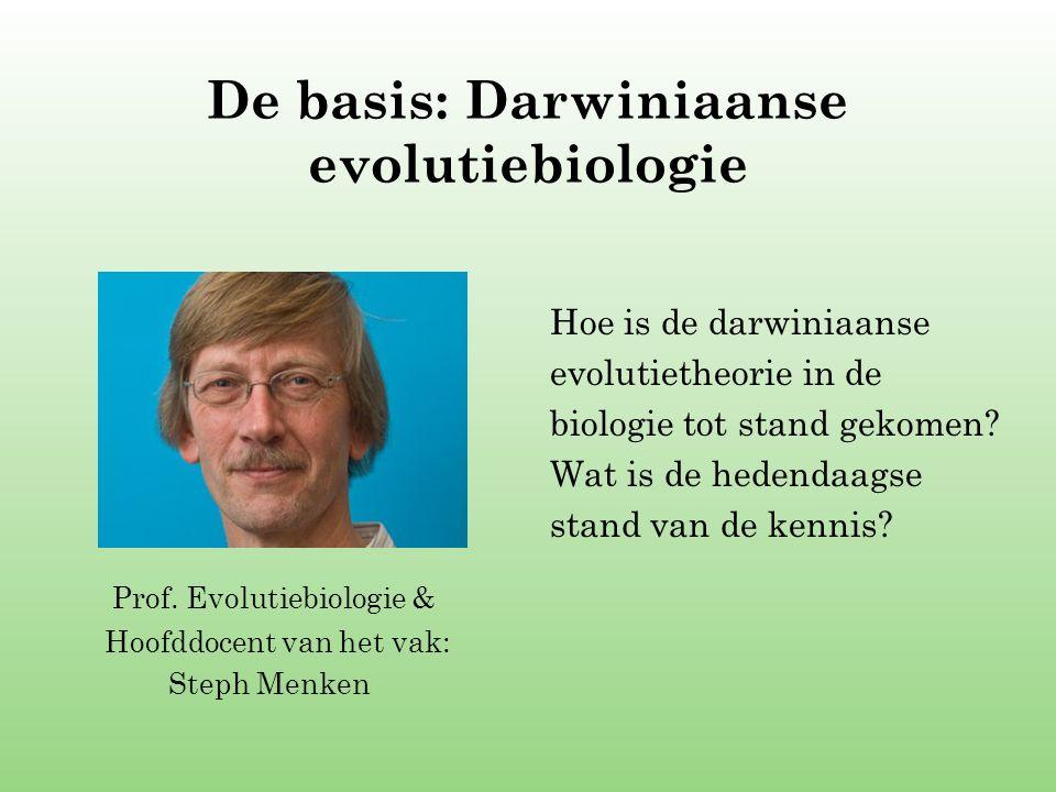 De basis: Darwiniaanse evolutiebiologie