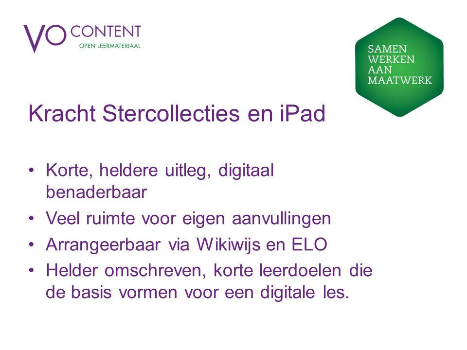 Kracht Stercollecties en iPad