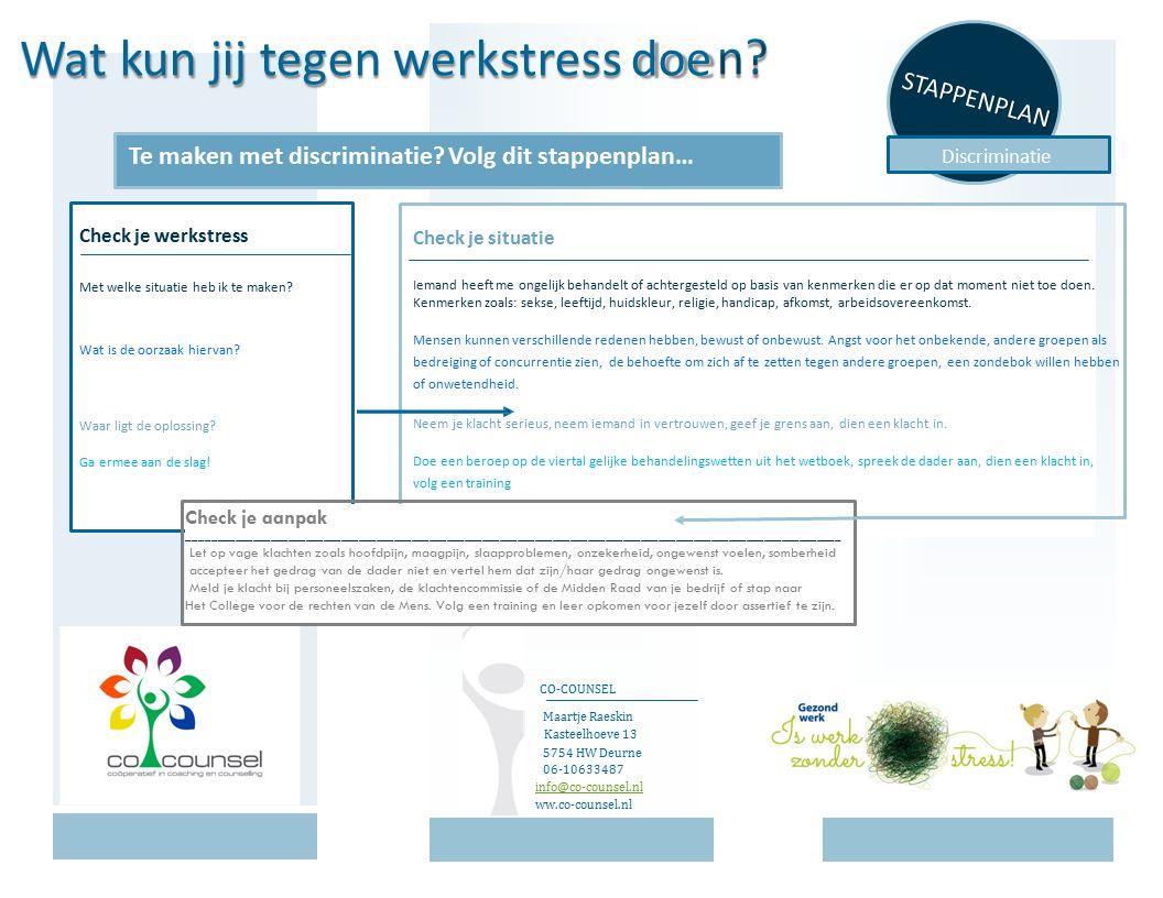 kun jij tegen werkstress doe