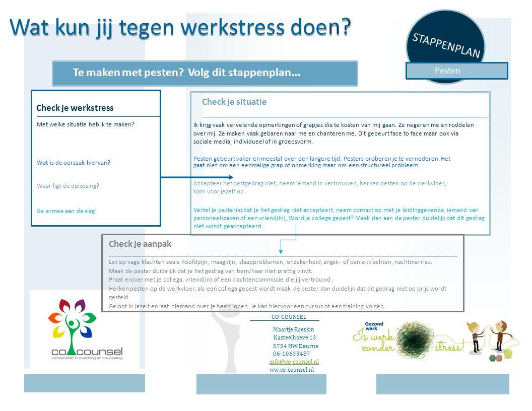 Wat kun jij tegen werkstress doe n