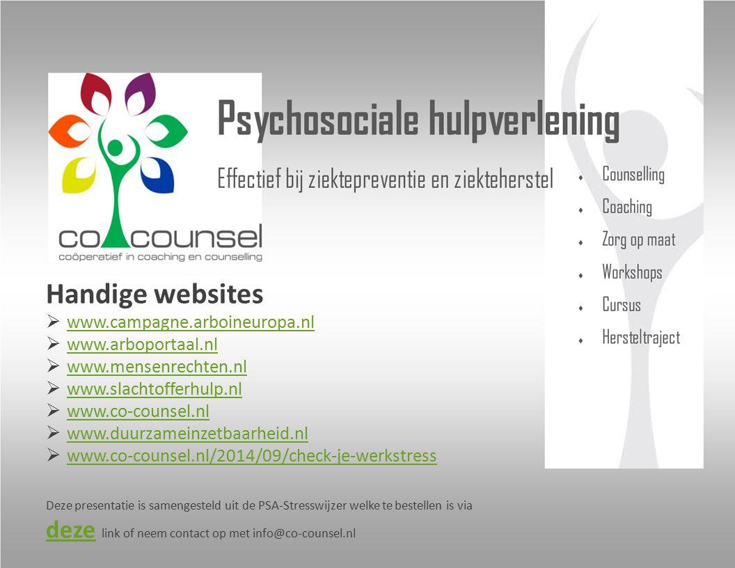 Handige websites www.campagne.arboineuropa.nl www.arboportaal.nl