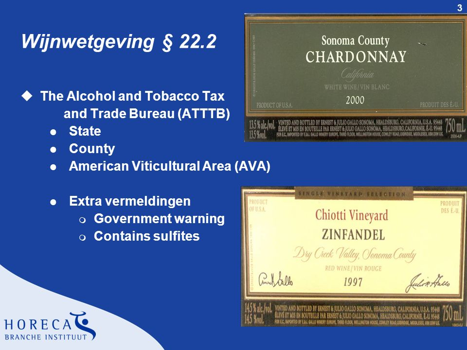 Wijnwetgeving § 22.2 The Alcohol and Tobacco Tax