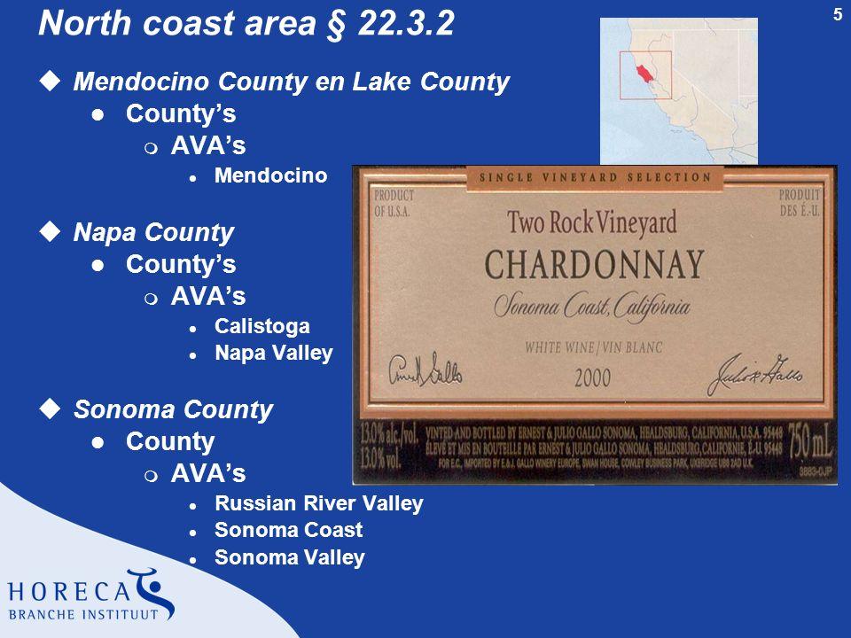North coast area § 22.3.2 Mendocino County en Lake County County's