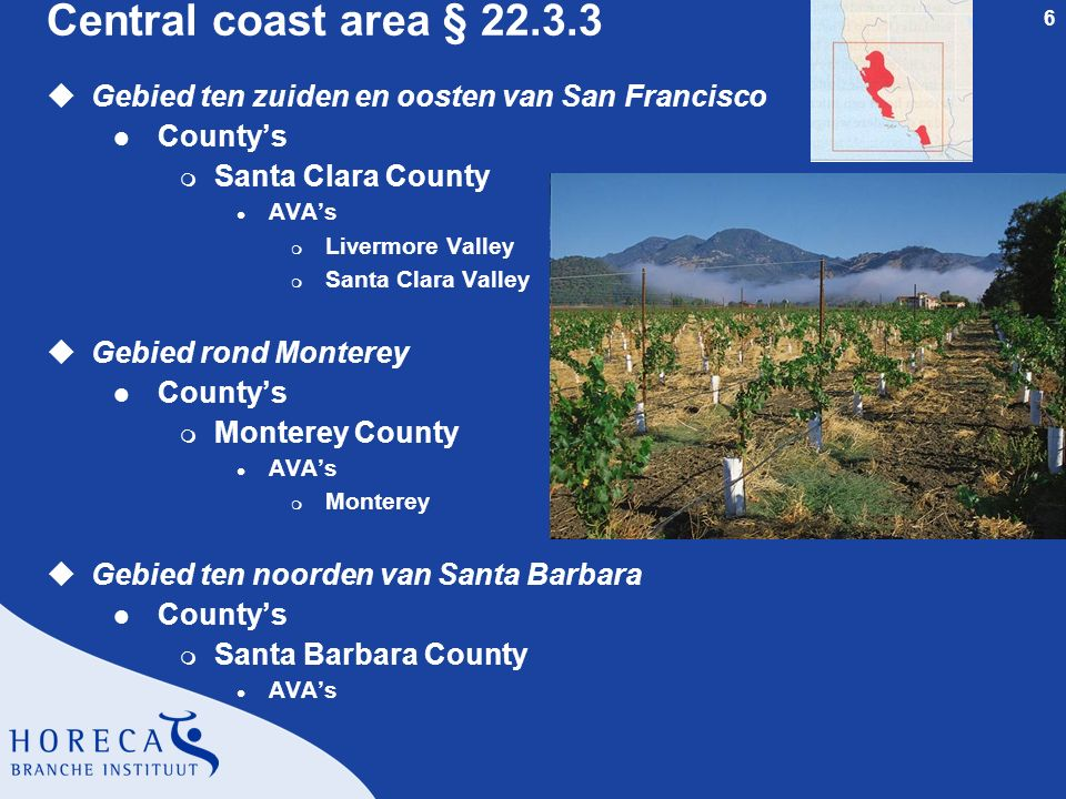 Central coast area § 22.3.3 Gebied ten zuiden en oosten van San Francisco. County's. Santa Clara County.