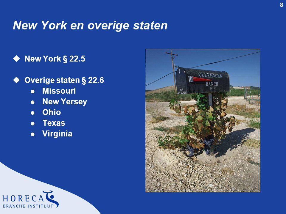 New York en overige staten