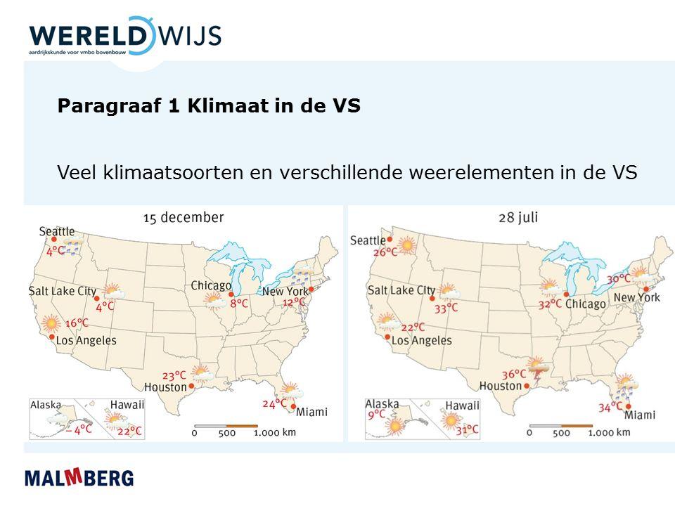 Paragraaf 1 Klimaat in de VS