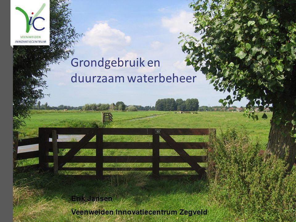 Grondgebruik en duurzaam waterbeheer