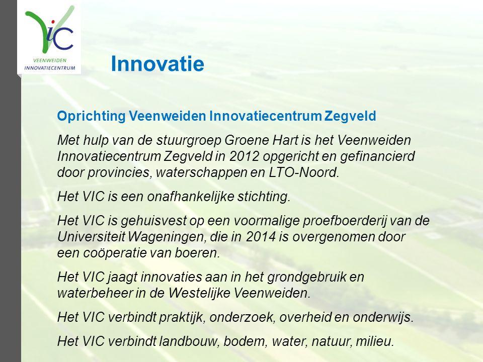 Innovatie Oprichting Veenweiden Innovatiecentrum Zegveld
