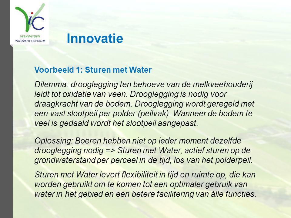 Innovatie Voorbeeld 1: Sturen met Water