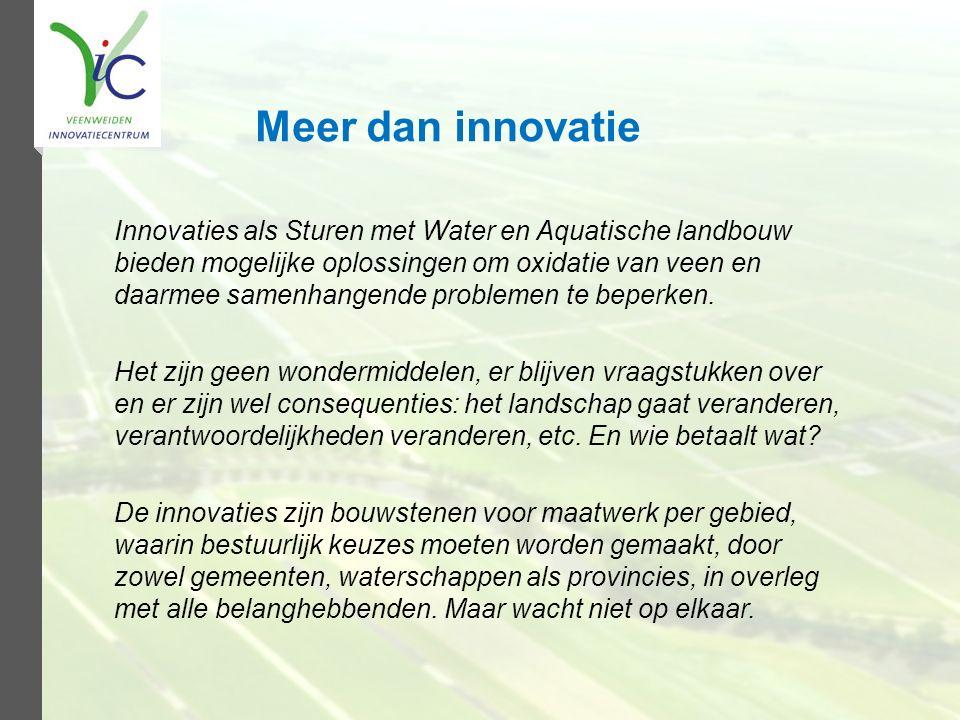 Meer dan innovatie