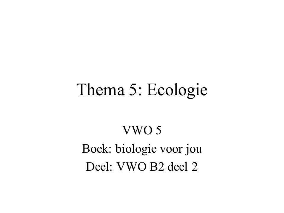 VWO 5 Boek: biologie voor jou Deel: VWO B2 deel 2