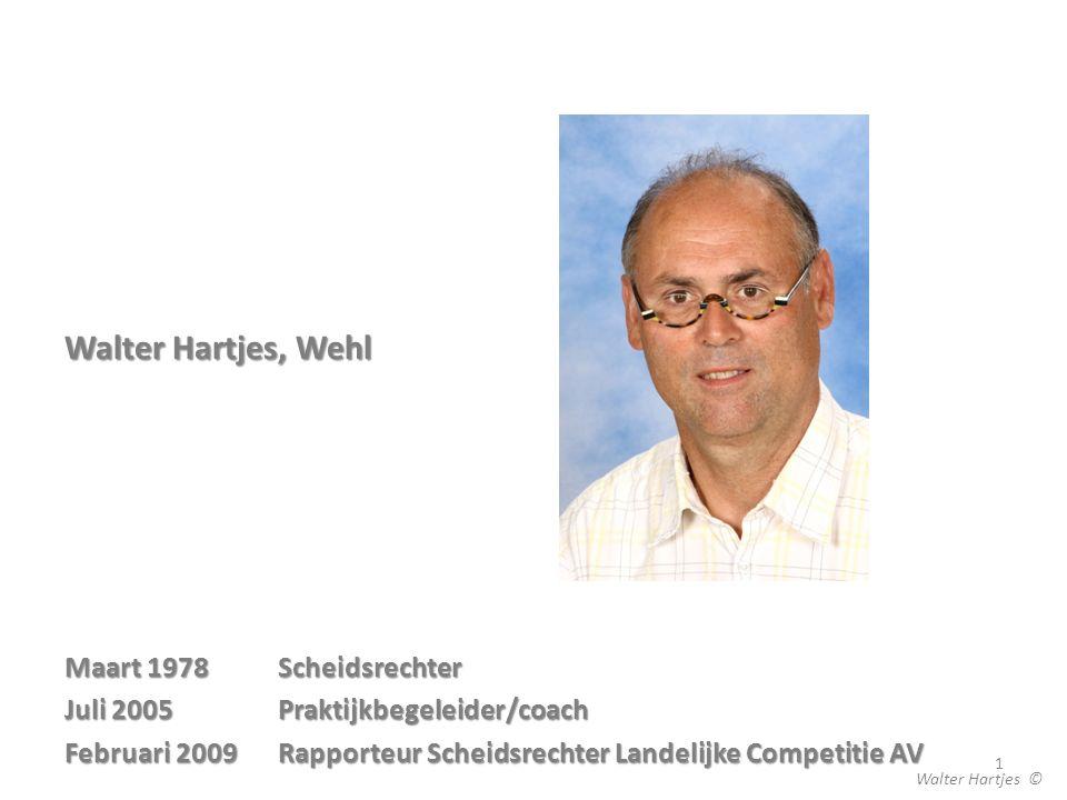Walter Hartjes, Wehl Maart 1978 Scheidsrechter