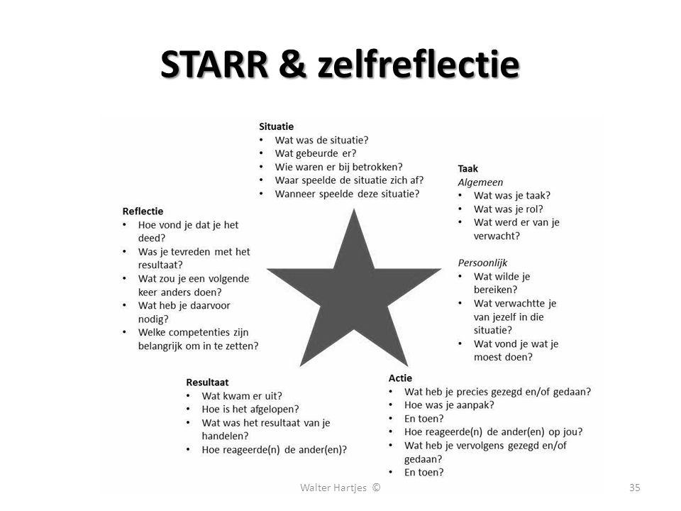 STARR & zelfreflectie Walter Hartjes ©