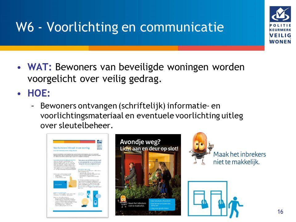 W6 - Voorlichting en communicatie