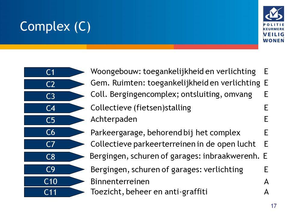 Complex (C) Woongebouw: toegankelijkheid en verlichting E C1