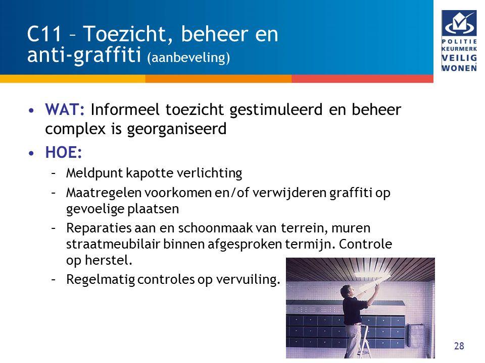 C11 – Toezicht, beheer en anti-graffiti (aanbeveling)