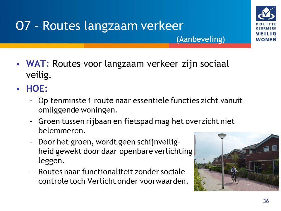 O7 - Routes langzaam verkeer