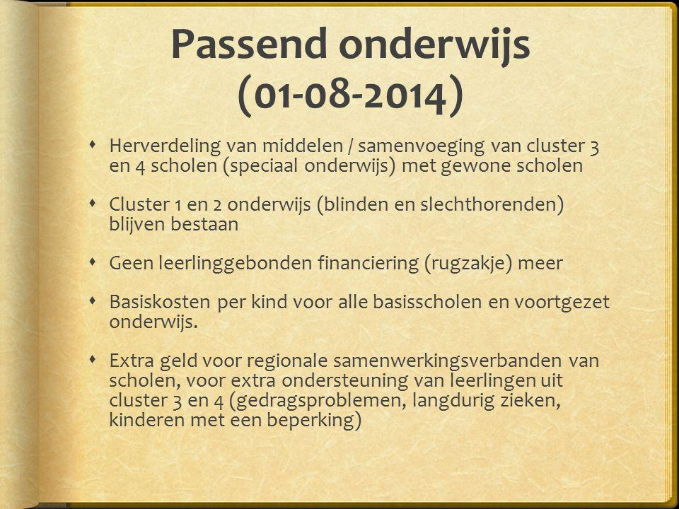 Passend onderwijs (01-08-2014)