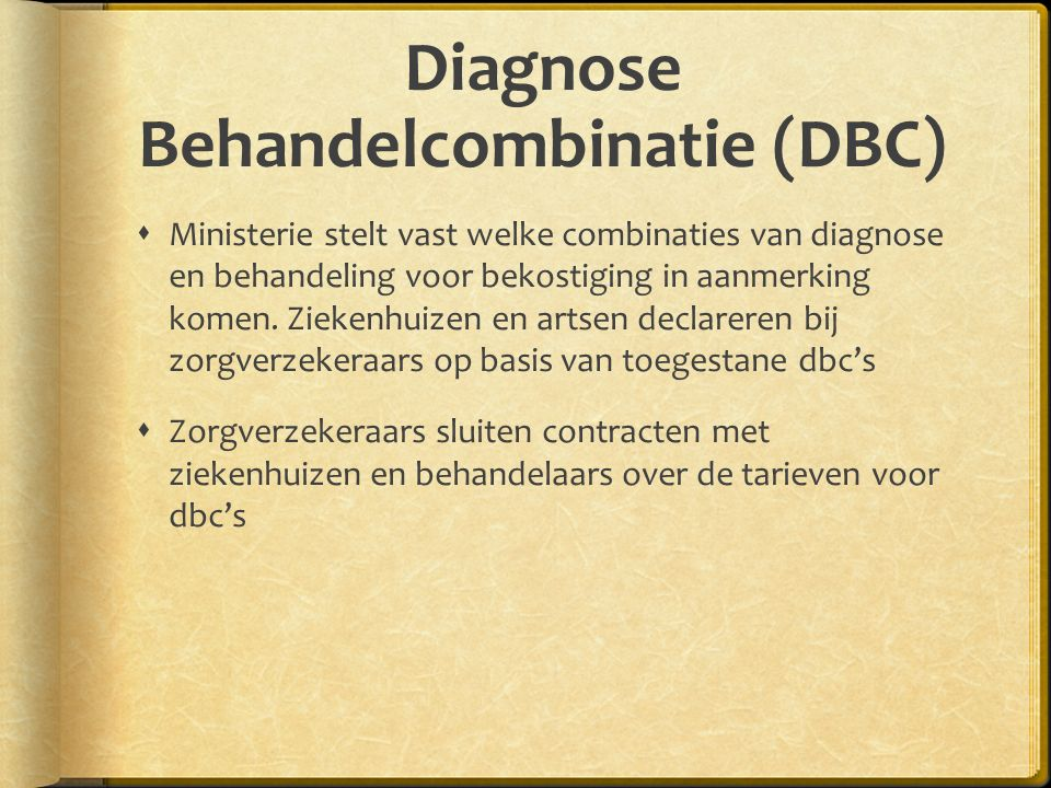Diagnose Behandelcombinatie (DBC)