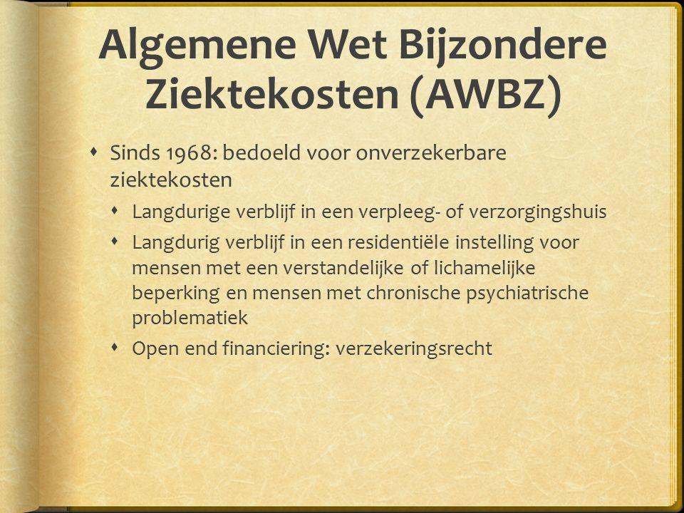 Algemene Wet Bijzondere Ziektekosten (AWBZ)