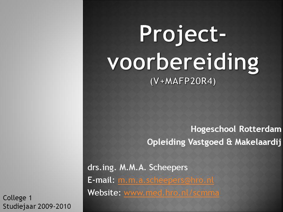 Project-voorbereiding (V+MAFP20R4)