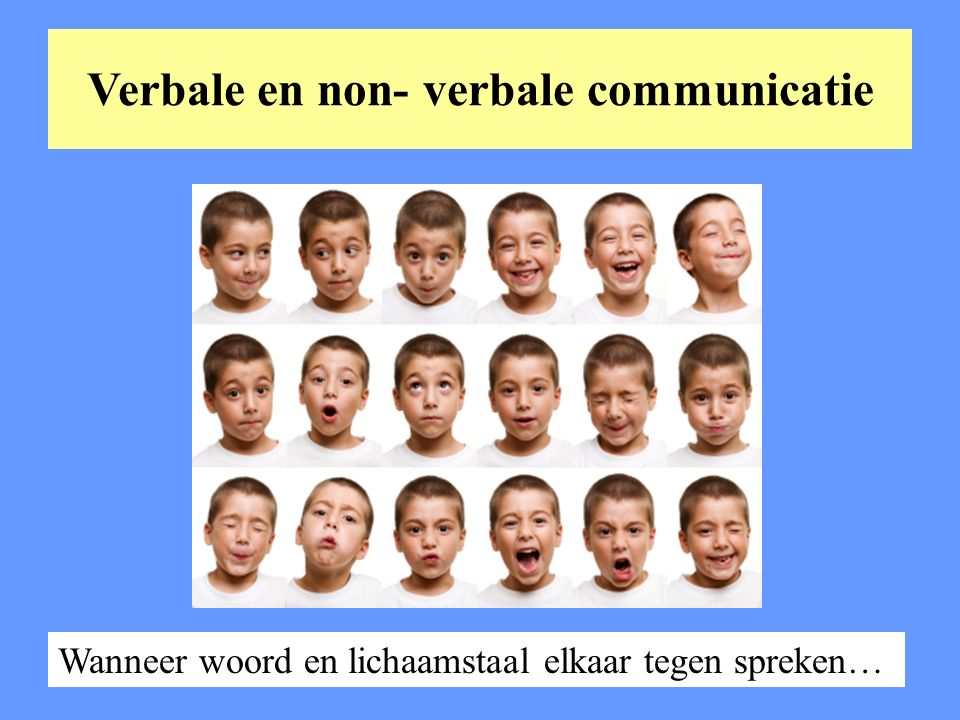 Verbale en non- verbale communicatie