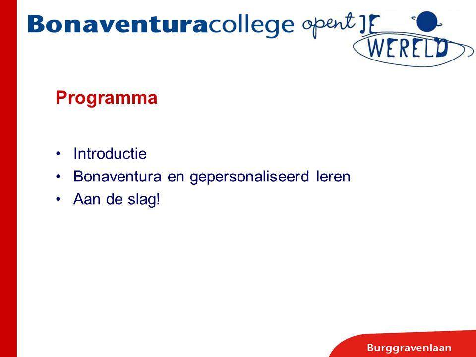 Introductie Bonaventura en gepersonaliseerd leren Aan de slag!