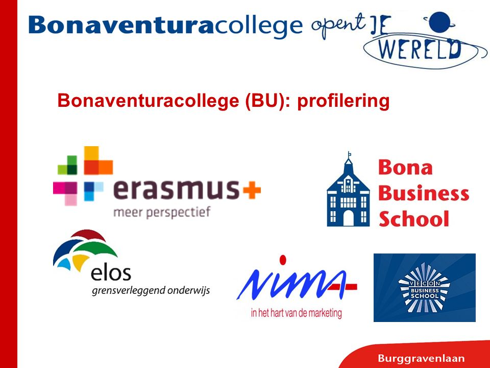 Bonaventuracollege (BU): profilering
