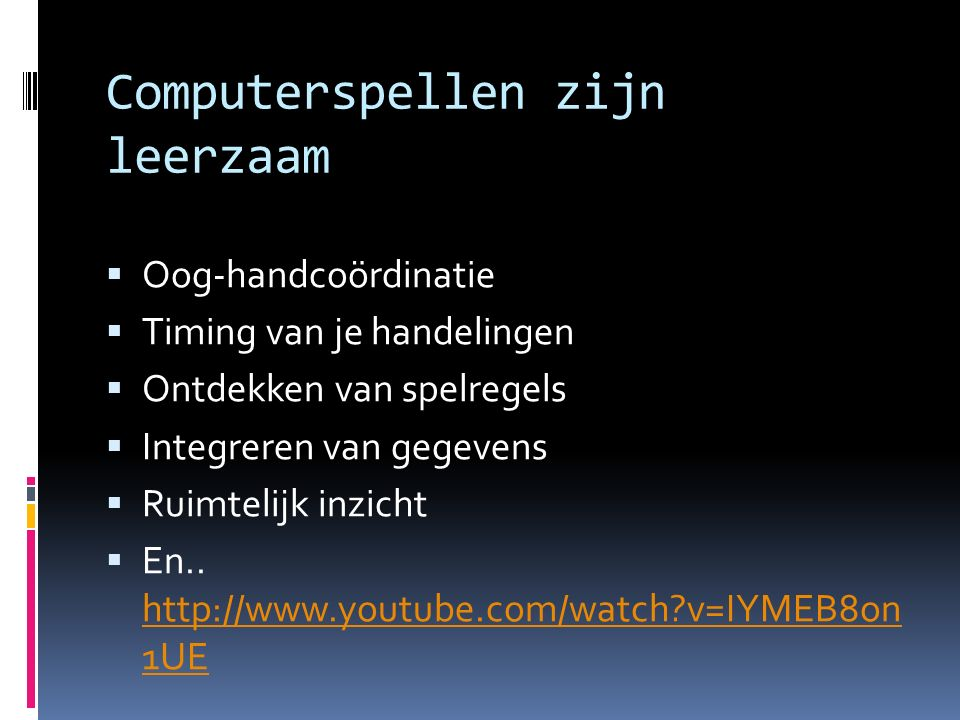 Computerspellen zijn leerzaam