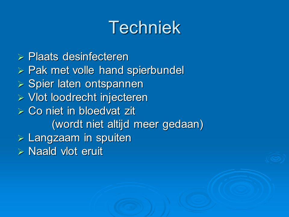 Techniek Plaats desinfecteren Pak met volle hand spierbundel