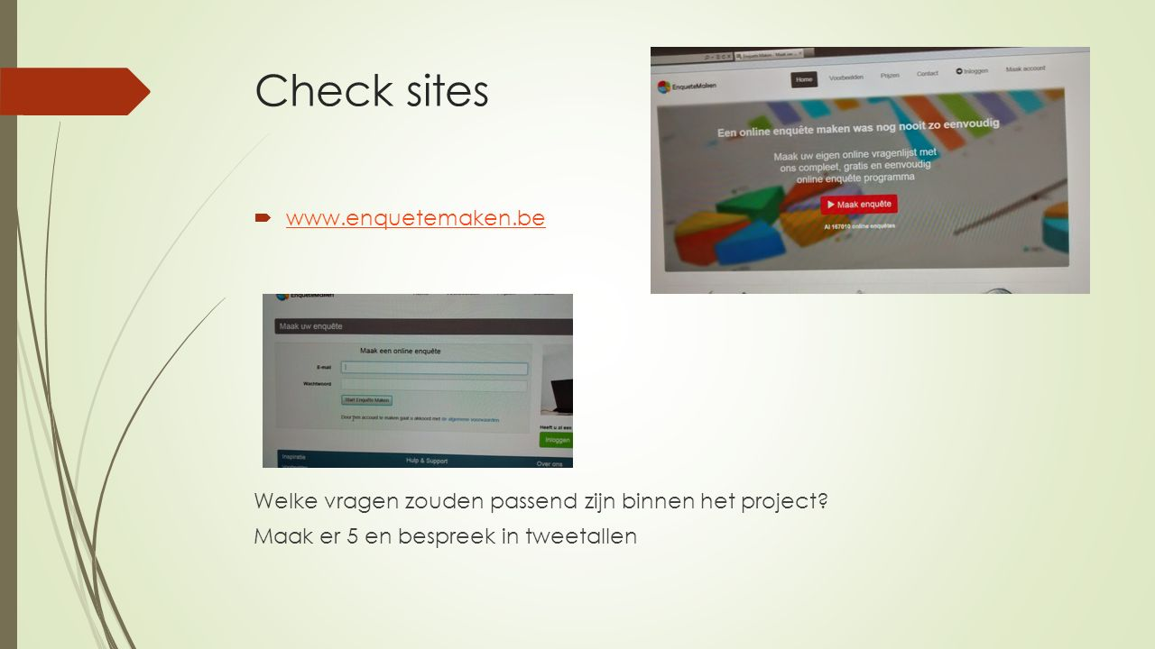 Check sites www.enquetemaken.be