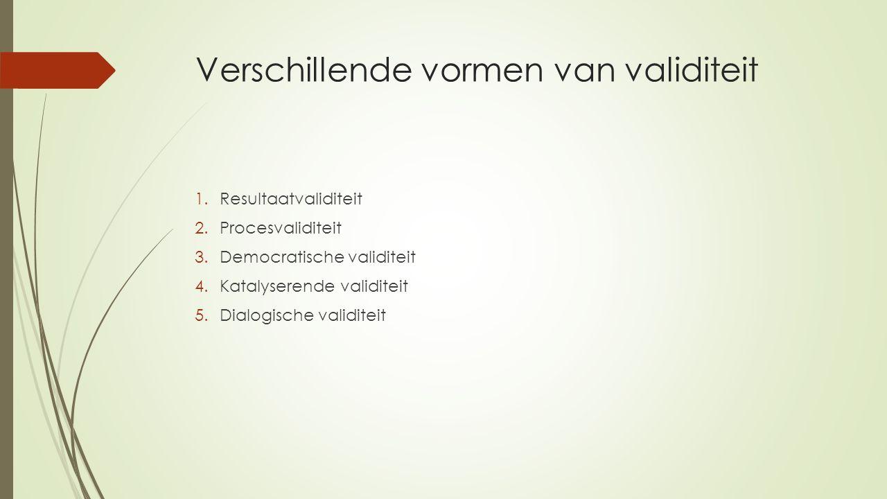 Verschillende vormen van validiteit