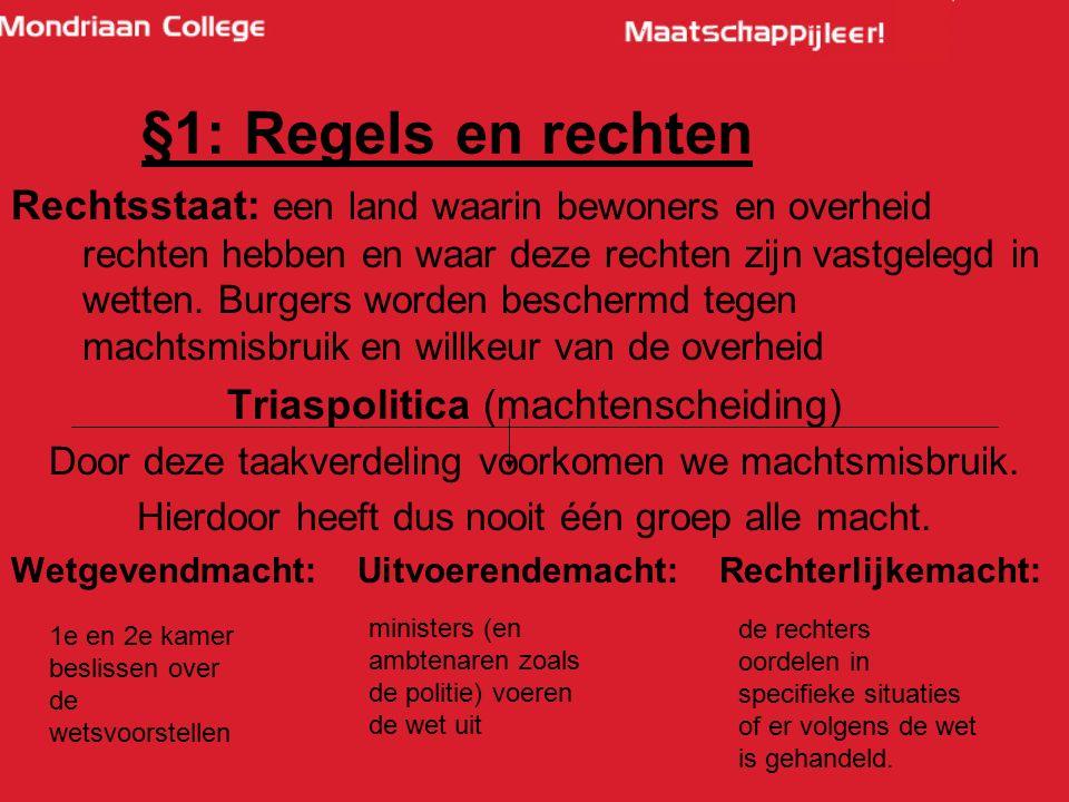 §1: Regels en rechten