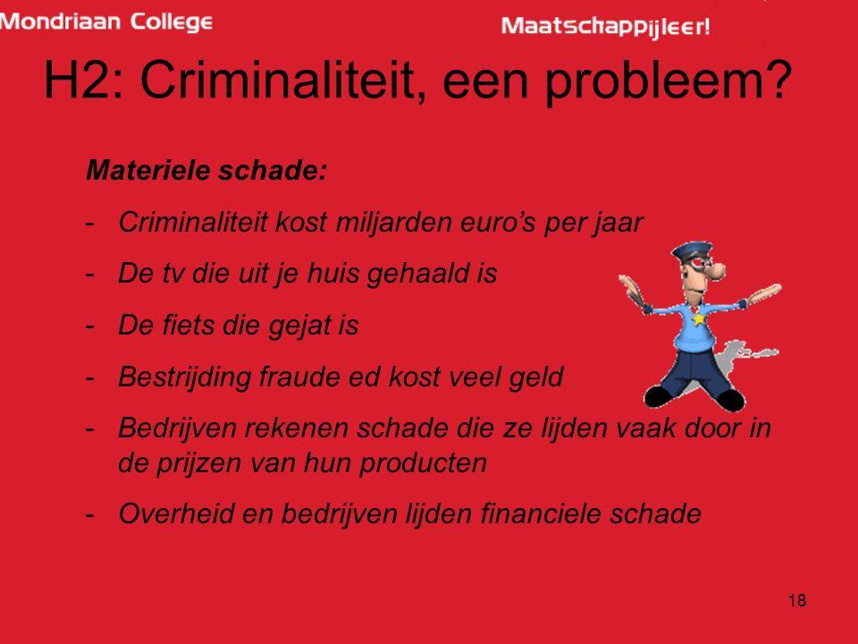 H2: Criminaliteit, een probleem