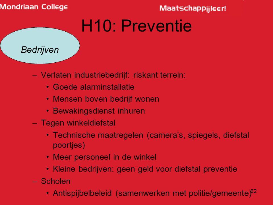 H10: Preventie Bedrijven Verlaten industriebedrijf: riskant terrein: