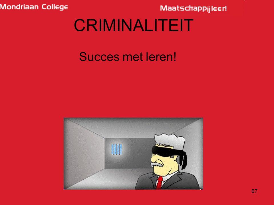 CRIMINALITEIT Succes met leren!