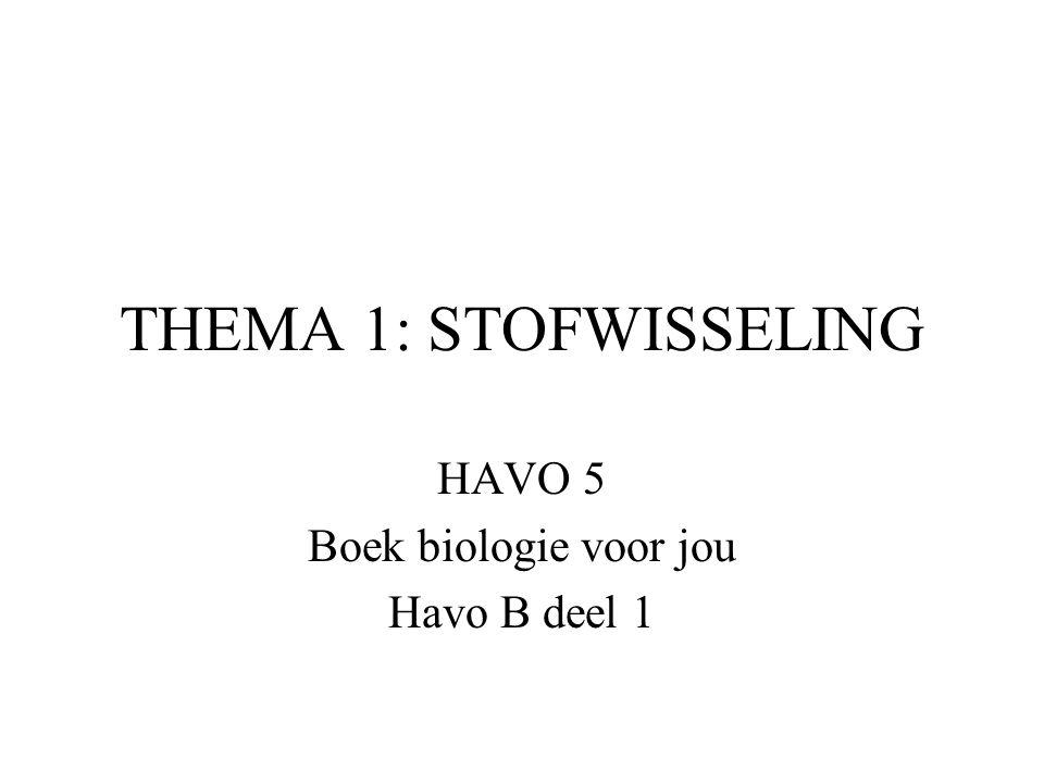 HAVO 5 Boek biologie voor jou Havo B deel 1