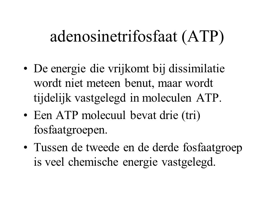 adenosinetrifosfaat (ATP)