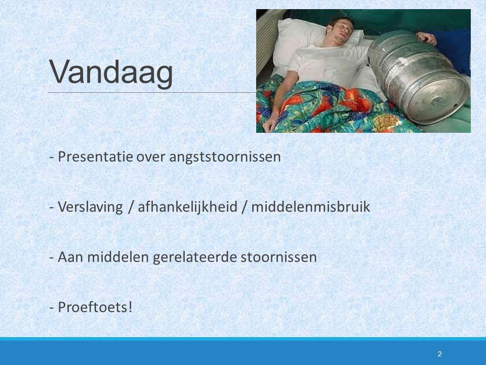 Vandaag - Presentatie over angststoornissen